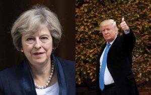 Trump e Theresa May