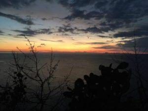 tramonto da Ventotene