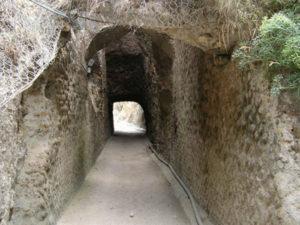 Tunnel-di-Chiaia-di-Luna. Pareti ad opus reticulatum